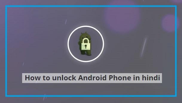 Unlock Android smartphone